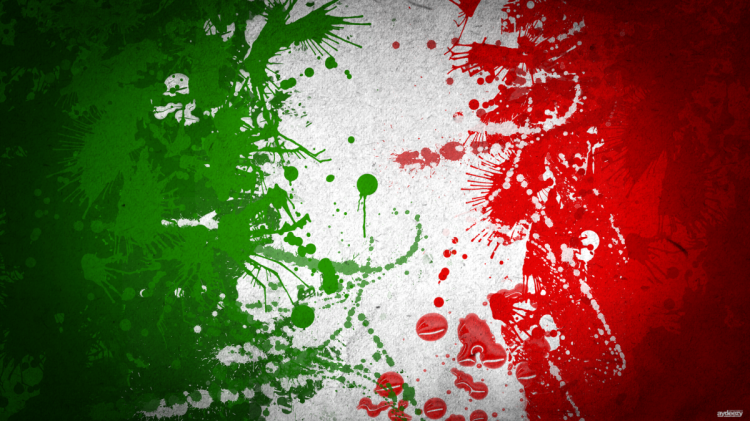 italian flag art